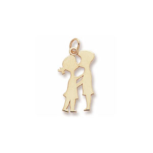 Boy & Girl Kissing Charm by Forever Charms - Personalized
