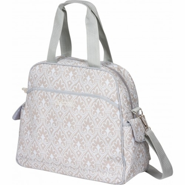 Brittany Backpack Blue Filagree Diaper Bag by Bumble Bags