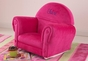 Bubblegum Velour Rocker with Slip Cover - click to Enlarge