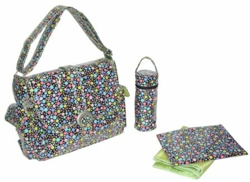 Bubbles Pastel - Laminated Buckle Diaper Bag by Kalencom