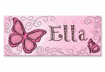 "Butterfly Canvas Wall Art Personalized - 10"" x 24"""