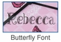 Butterfly Clock Wall Art Personalized - click to Enlarge