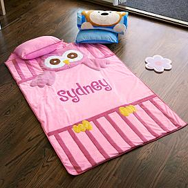 Owl or Monkey Personalized Kids Nap Mats