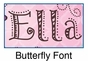 Butterfly Oval Wall Plaque Personalized - click to Enlarge