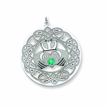 necklaces pe platinumware irish circle claddagh crossroads pendants pendant