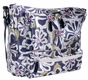 Charcoal Floral Iris Baby Bag by Amy Michelle - click to Enlarge