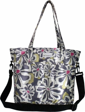 Charcoal Floral New Orleans Baby Bag by Amy Michelle