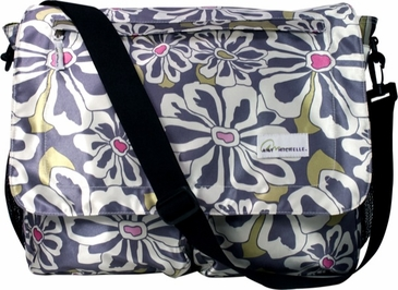 Charcoal Floral Seattle Baby Bag by Amy Michelle