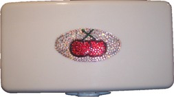 Cherry Wipes Container with Swarovski© Crystals