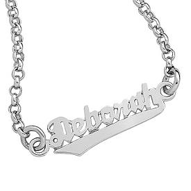 Children Sterling Silver Bracelet - Personalized