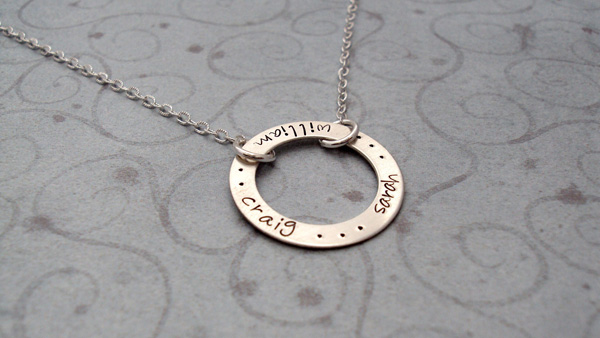 Circle pendant necklace personalized bliss living aloadofball Gallery