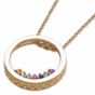 Circle Slider Charm Pendant Necklace - click to Enlarge