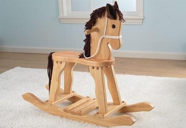 Classic Derby Rocking Horse - Natural