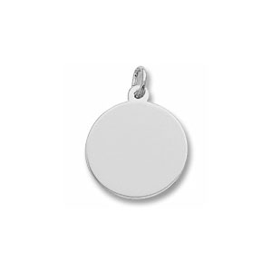 Classic Extra Small Disc Charm by Forever Charms - Personalized