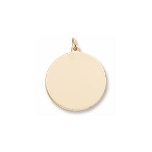 Classic Large Disc Charm by Forever Charms - Personalized