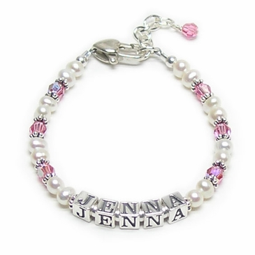 Classic Pink Pearl Bracelet for Girl