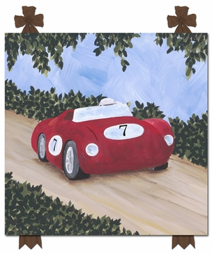 Classic Roadster IV Stretched Art Personalized by Dish and Spoon