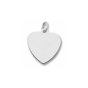 Classic Small Heart Charm by Forever Charms - Personalized