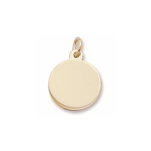 Classic Tiny Disc Charm by Forever Charms - Personalized