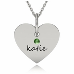 Classy Heart Name Charm Necklace