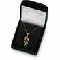 Clover Pendant with Link Chain- 14K Yellow - click to Enlarge