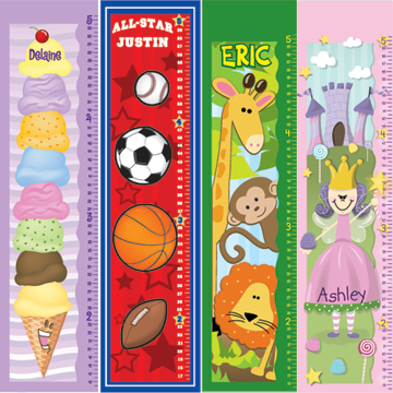 Colorful Canvas Growth Charts Bliss Living