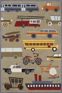 Concrete Whimsy Transportation Rug