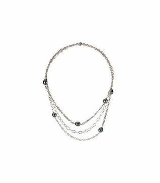 Contemporary style Tahitian pearl necklace