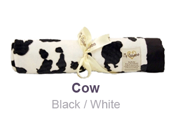 Cow Black White Animal Print Velour Blanket by My Blankee