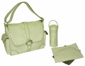 Cream Corduroy - Laminated Buckle Diaper Bag by Kalencom