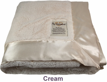 Cream Luxe Blanket by My Blankee