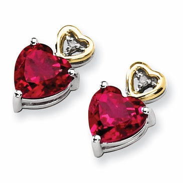 Crimson Topaz Diamond Earrings