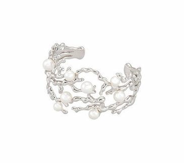 "Cultured Pearl 6"" Cuff Bracelet"