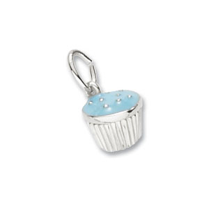 Cupcake Blue Charm by Forever Charms