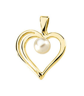 Curly Heart Pearl Earrings
