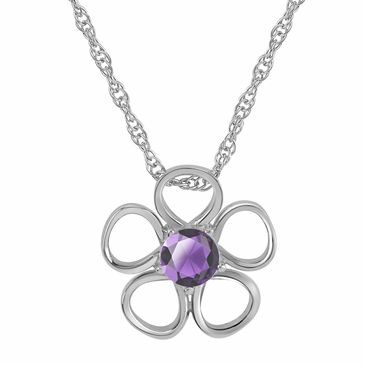 Daisy Birthstone Pendant Necklace - June
