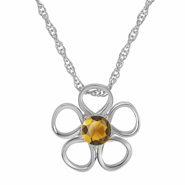 Daisy Birthstone Pendant Necklace - November