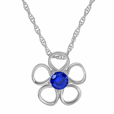 Daisy Birthstone Pendant Necklace - September