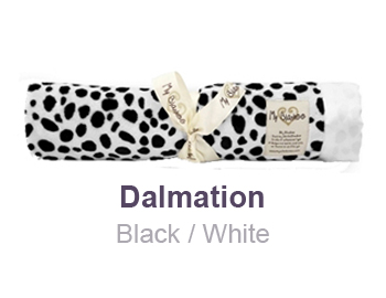 Dalmation Black White Animal Print Velour Blanket by My Blankee