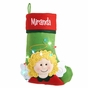 Darling Christmas Stocking with Lights - click to Enlarge
