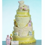 Darling Ducky 3-Tier Baby Cake