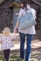 Dawn Cloud Blue Diaper Bag by Timi & Leslie - click to Enlarge