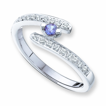 Delicate Birthstone and Diamond Journey Ring - with Genuine Stones