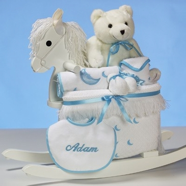 Deluxe rocking horse baby boy gift set personalized bliss living deluxe rocking horse baby boy gift set personalized negle Gallery