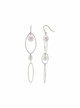 Designer Cultured pearl earrings in sterling silver