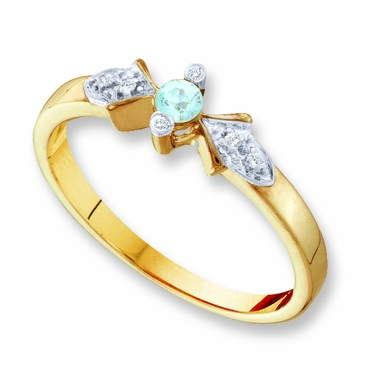 Diamond and Birthstone Family Ring - with Genuine Stones
