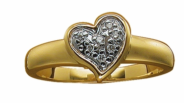Diamond Sweetheart Ring in Gold