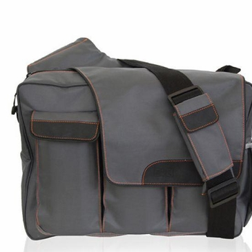 Diaper Dude Grey DD Flap Messenger II Diaper Bag