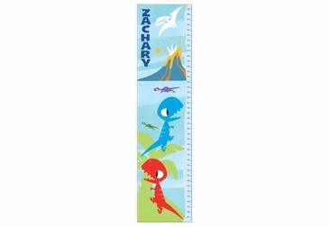 Dinosaur Growth Chart Personalized - Blue