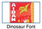 Dinosaur Growth Chart Personalized - Red - click to Enlarge